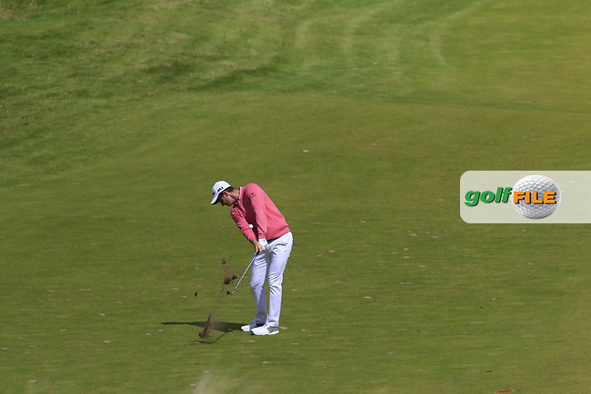 Justin Rose (ENG) chips into the 2nd green during Saturday's Round 3 of the 2017 Dubai Duty Free Irish Open held at Portstewart Golf Club, Portstewart, Co Derry, Northern Ireland. 08/07/2017<br /> Picture: Golffile | Eoin Clarke<br /> <br /> <br /> All photo usage must carry mandatory copyright credit (&copy; Golffile | Eoin Clarke)