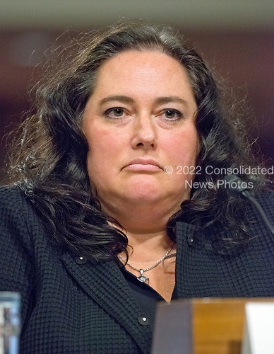 Elaine A. McCusker testifies before the United States Senate Armed Services Committee on her nomination as Principal Deputy Under Secretary of Defense (Comptroller) on Capitol Hill in Washington, DC on May 9, 2017.<br /> Credit: Ron Sachs / CNP
