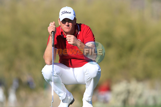 Robert Karlsson (SWE) in action on the 17th green during Day 2 of the Accenture Match Play Championship from The Ritz-Carlton Golf Club, Dove Mountain, Thursday 24th February 2011. (Photo Eoin Clarke/golffile.ie)
