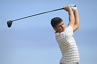 TJ Ford (Co. Sligo) on the 17th tee during Round 2 - Strokeplay of the North of Ireland Championship at Royal Portrush Golf Club, Portrush, Co. Antrim on Tuesday 10th July 2018.<br /> Picture:  Thos Caffrey / Golffile