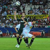 2012.09.15 Spain, Sevilla; Ramon Sanchez pizjuan stadium, Sevilla FC VS Real Madrid, La Liga,GONZALO HIGUAIN (ARG)