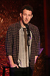 "Nick Blaemire from the cast of ""The Jonathan Larson Project"" during the press preview on October 3, 2018 at Feinstein's/54 Below in New York City."
