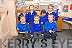 Scoil Cheann Tra Junior Infants pupils on their first day at school. Front left: Cillian MacConmara, Séamus Ó Grifín, Cian Ó Gallchobhair. Back left: Hilary Ní Bhroinn, Orlaith Nic an Rí, Robin Quinlan, Isla Gardiner.