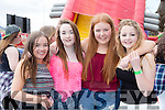 kate Devane, Sarah Flannery, Rebecca lynch, Liarosa Scally from Dingle Youth Club enjoying the KDYS Youth day in the INEC on Sunday