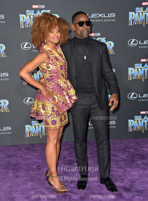 Sterling K. Brown &amp; Ryan Michelle Bathe at the world premiere for &quot;Black Panther&quot; at the Dolby Theatre, Hollywood, USA 29 Jan. 2018<br /> Picture: Paul Smith/Featureflash/SilverHub 0208 004 5359 sales@silverhubmedia.com