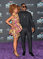 "Sterling K. Brown & Ryan Michelle Bathe at the world premiere for ""Black Panther"" at the Dolby Theatre, Hollywood, USA 29 Jan. 2018<br /> Picture: Paul Smith/Featureflash/SilverHub 0208 004 5359 sales@silverhubmedia.com"