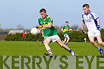 Jack Moran of Tralee CBS in action against St Flannan's of in the Frewen Cup Final  held last Wednesday in Croagh, Co. Limerick. ..