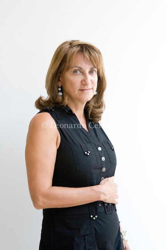 Mantova, Italy, 2008. Loretta Napoleoni, Italian economist and essayist born in London. Expert in terrorism and International economy.