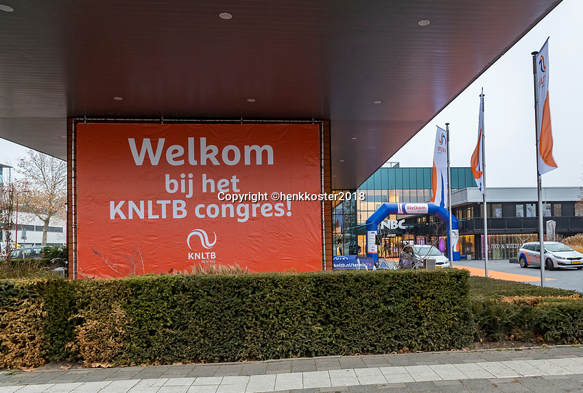Nieuwegein,  Netherlands, 24 November 2018, KNLTB Year congress KNLTB, Entree<br /> Photo: Tennisimages.com/Henk Koster