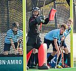 BLOEMENDAAL  - keeper Joriaan Collombon, , competitiewedstrijd junioren  landelijk  Bloemendaal JA1-Nijmegen JA1 (2-2) . COPYRIGHT KOEN SUYK