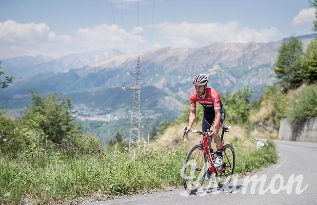 Julien Bernard (FRA/Trek-Segafredo) during his restday 3 training ride <br /> <br /> 100th Giro d'Italia 2017