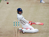Heino Kuhn of Kent ducks under a bouncer from Ishant Sharma during day 2 of the Specsavers County Championship Div 2 game between Kent and Sussex at the St Lawrence Ground, Canterbury, on May 12, 2018