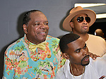 MIAMI, FL - MAY 29: John Witherspoon, Lil Duval and Abebe Lewis backstage at the 9th Annual Memorial Weekend Comedy Festival at James L Knight Center on May 29, 2016 in Miami, Florida. ( Photo by Johnny Louis / jlnphotography.com )