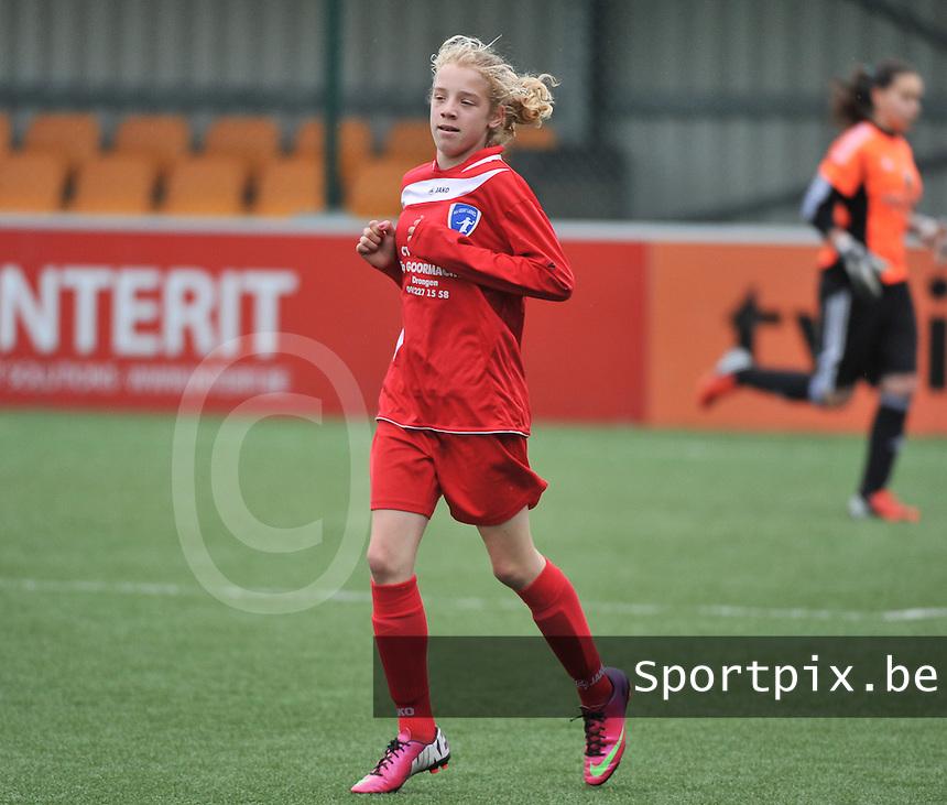 AA Gent Ladies U16 - RSC Anderlecht : Elena Dhont.foto DAVID CATRY / Nikonpro.be