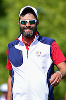 Jordan Spieth's (USA) caddie, Michael Greller during the practice round at the Ryder Cup, Hazeltine National Golf Club, Chaska, Minnesota, USA.  9/29/2016<br /> Picture: Golffile | Ken Murray<br /> <br /> <br /> All photo usage must carry mandatory copyright credit (&copy; Golffile | Ken Murray)