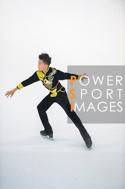 Zhi Ming Peng competes during the Asian Junior Figure Skating Challenge 2015 on October 07, 2015 in Hong Kong, China. Photo by Aitor Alcalde/ Power Sport Images