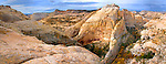 A panoramic image of the slickrock country surrounding Death Hollow in Escalante, Utah