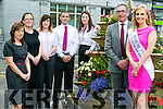 Launching the International Womens Conference at the Rose Hotel which will be held on Monday 22nd of August. sponsored by AIB Bank. l-r  Elaine Tierney, Sarah O'Regan, Sarah Leahy, Eddie Bowler, Oonagh Harrington  Joe Shanahan, Manager AIB and The Rose of Tralee Elysha Brennan