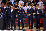 League ACB-ENDESA 2017/2018. Game: 1.<br /> FC Barcelona Lassa vs Baskonia: 87-82.<br /> Staff Tecnico FC Barcelona con Sito Alonso.