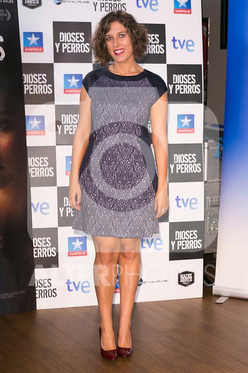 """Lucia Alvarez attends the """"DIOSES Y PERROS """" Movie presentation at Kinepolis Cinema in Madrid, Spain. October 6, 2014. (ALTERPHOTOS/Carlos Dafonte)"""