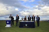Prizegiving ceremony during Day 3 / singles of the Boys' Home Internationals played at Royal Dornoch Golf Club, Dornoch, Sutherland, Scotland. 09/08/2018<br /> Picture: Golffile | Phil Inglis<br /> <br /> All photo usage must carry mandatory copyright credit (&copy; Golffile | Phil Inglis)