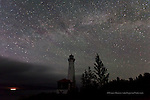 photo picture image of Crisp Point Lighthouse and Milky Way