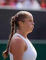 Shelby Rogers of United States in action during her defeat by Angelique Kerber (1) of Germany in their Ladies' Singles Third Round Match today - Kerber def Rogers 4-6, 7-6, 6-4<br /> <br /> Photographer Ashley Western/CameraSport<br /> <br /> Wimbledon Lawn Tennis Championships - Day 6 - Saturday 8th July 2017 -  All England Lawn Tennis and Croquet Club - Wimbledon - London - England<br /> <br /> World Copyright &not;&copy; 2017 CameraSport. All rights reserved. 43 Linden Ave. Countesthorpe. Leicester. England. LE8 5PG - Tel: +44 (0) 116 277 4147 - admin@camerasport.com - www.camerasport.com