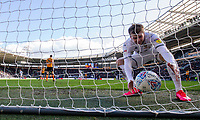 Leeds United's Patrick Bamford picks the ball out the net after Pablo Hernandez scored his side's second<br /> <br /> Photographer Alex Dodd/CameraSport<br /> <br /> The EFL Sky Bet Championship - Hull City v Leeds United - Saturday 29th February 2020 - KCOM Stadium - Hull<br /> <br /> World Copyright © 2020 CameraSport. All rights reserved. 43 Linden Ave. Countesthorpe. Leicester. England. LE8 5PG - Tel: +44 (0) 116 277 4147 - admin@camerasport.com - www.camerasport.com