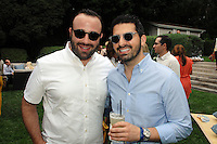 Oliver Furth, Sean Yashar==<br /> LAXART 5th Annual Garden Party Presented by Tory Burch==<br /> Private Residence, Beverly Hills, CA==<br /> August 3, 2014==<br /> ©LAXART==<br /> Photo: DAVID CROTTY/Laxart.com==
