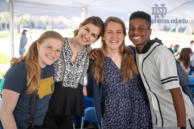 May 4, 2018; Center for Ethics and Culture year-end picnic (Photo by Matt Cashore/University of Notre Dame)