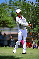 Haru Nomura (JPN) watches her tee shot on 2 during round 4 of  the Volunteers of America Texas Shootout Presented by JTBC, at the Las Colinas Country Club in Irving, Texas, USA. 4/30/2017.<br /> Picture: Golffile | Ken Murray<br /> <br /> <br /> All photo usage must carry mandatory copyright credit (&copy; Golffile | Ken Murray)