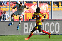Danilo of FC Juventus ,jumps for the ball with Khouma Babacar of US Lecce <br /> Lecce 26-10-2019 Stadio Via del Mare <br /> Football Serie A 2019/2020 <br /> US Lecce - FC Juventus<br /> Photo Carmelo Imbesi / Insidefoto