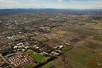 aerial photograph of Sonoma State University, Rohnert Park, Sonoma County, California