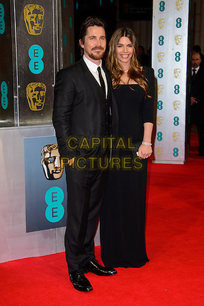 LONDON, ENGLAND - FEBRUARY 16: Christian Bale and Sibi Blazic attends EE British Academy Film Awards in 2014  at the Royal Opera House on February 16, 2014 in London, England.<br /> CAP/CJ<br /> &copy;Chris Joseph/Capital Pictures