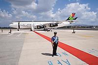 L'aereo di Gheddafi all'eroporto di Ciampino a Roma