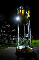 The Rugby Championship trophy stands on display during the Rugby Championship match between the New Zealand All Blacks and Argentina Pumas at Trafalgar Park in Nelson, New Zealand on Saturday, 8 September 2018. Photo: Dave Lintott / lintottphoto.co.nz