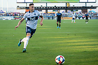 SAN JOSE, CA - AUGUST 24: Jake Nerwinski #28 of the Vancouver Whitecaps during a game between Vancouver Whitecaps FC and San Jose Earthquakes at Avaya Stadium on August 24, 2019 in San Jose, California.