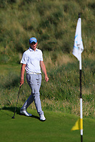Robert Brazill (Naas) on the 17th green during the Final of the AIG Irish Amateur Close Championship 2019 in Ballybunion Golf Club, Ballybunion, Co. Kerry on Wednesday 7th August 2019.<br /> <br /> Picture:  Thos Caffrey / www.golffile.ie<br /> <br /> All photos usage must carry mandatory copyright credit (© Golffile | Thos Caffrey)
