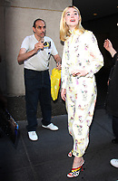 NEW YORK, NY - AUGUST 30: Elle Fanning seen leaving NBC's Today Show wearing a one-piece pajama outfit in New York City on August 30, 2017.Credit: RW/MediaPunch