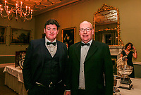 John and Peter Dunne from Warrenpoint Golf Club during the Golfing Union of Ireland Champions Dinner at Carton House, Maynooth, Co. Kildare. 01/02/2019<br /> Picture: Golffile | Thos Caffrey<br /> <br /> <br /> All photo usage must carry mandatory copyright credit (&copy; Golffile | Thos Caffrey)