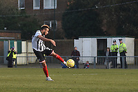 Nathan Arnold of Grimsby Town scores their first goal during the FA Trophy Semi Final first leg match between Bognor Regis and Grimsby Town at Nyewood Lane, Bognor Regis, England on 12 March 2016. Photo by Paul Paxford/PRiME Media Images.