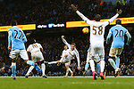 Swansea's Gylfi Sigurosson late chance on goal is saved - Manchester City vs Swansea - Barclays Premier League - Etihad Stadium - Manchester - 12/12/2015 Pic Philip Oldham/SportImage