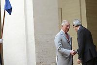 Roma, 5 Aprile 2017<br /> Incontro tra  Paolo Gentiloni e il principe Carlo principe del Galles a Palazzo Chigi.<br /> Prince Charles, Prince of Wales and the Italian Prime Minister Paolo Gentiloni at Palazzo Chigi