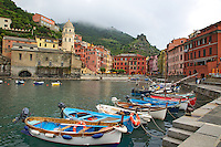 Boat harbor, Village of Vernazza in Cinque Terra National Park, Italy
