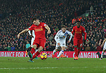James Milner of Liverpool scores the second goal from a penalty during the Premier League match at the Anfield Stadium, Liverpool. Picture date: November 26th, 2016. Pic Simon Bellis/Sportimage