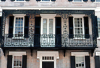 Charleston: Charleston House--detail of grillwork.  Photo '78.