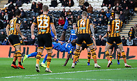 Bolton Wanderers' Clayton Donaldson shoots with an overhead kick<br /> <br /> Photographer Andrew Kearns/CameraSport<br /> <br /> The EFL Sky Bet Championship - Hull City v Bolton Wanderers - Tuesday 1st January 2019 - KC Stadium - Hull<br /> <br /> World Copyright © 2019 CameraSport. All rights reserved. 43 Linden Ave. Countesthorpe. Leicester. England. LE8 5PG - Tel: +44 (0) 116 277 4147 - admin@camerasport.com - www.camerasport.com