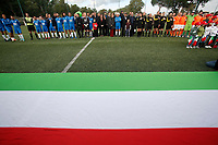 Luca Palamara, Concetta Raccuia, Maria Elena Boschi, Francesco Totti e Simone Perrotta<br /> Roma 23/12/2017. Totti Soccer School. Partita contro la violenza sulle donne in memoria di Sara di Pietrantonio.<br /> Rome November 23rd 2017. Totti Soccer School. Friendly soccer match fight violence against women.<br /> Foto Samantha Zucchi Insidefoto