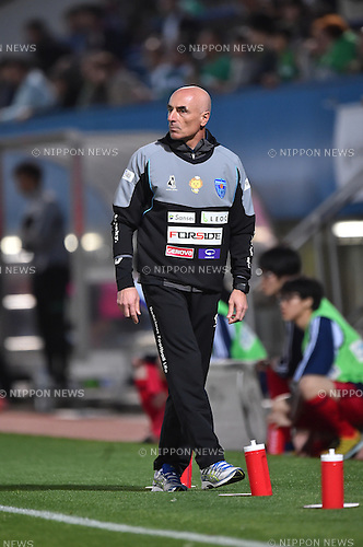 Milos Rus (Yokohama FC),<br /> APRIL 17, 2016 - Football / Soccer :<br /> Yokohama FC head coach Milos Rus during the 2016 J2 League match between Yokohama FC 1-1 Tokyo Verdy at NHK Spring Mitsuzawa Football Stadium in Kanagawa, Japan. (Photo by AFLO)