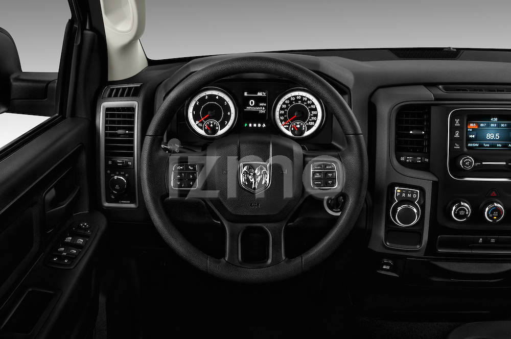Car pictures of steering wheel view of a 2016 Ram 1500 Express Express 4 Door Pickup Steering Wheel